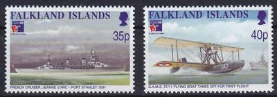 Falkland-Inseln Mi-Nr. 749 - 750 **, PHILEXFRANCE - Flugboote / Airboats (13 ME)