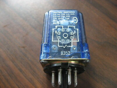 DELTROL CONTROLS 8420 120 Volt Coil 8 Pin Ice Cube Relay