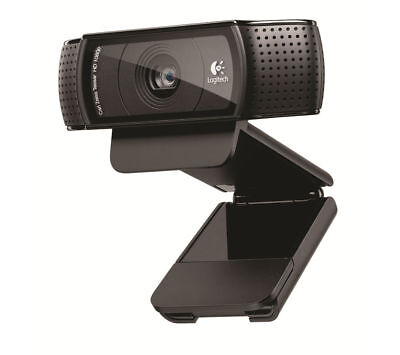 59Logitech C920 Pro HD Webcam 1080P Microphone Video Call Skype USB PC Camera