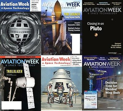 260 Aviation Week & Space Technology Magazine's  (2 DVD's) + Extras Sci-Fi Pdf's