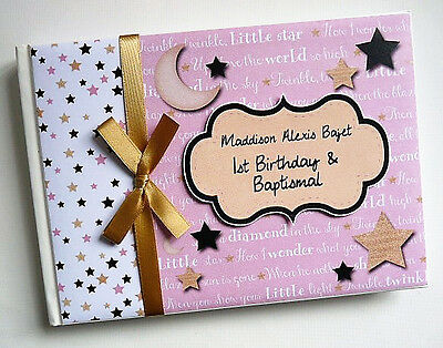 Twinkle Twinkle Little Star Baby Shower Boy Guest Book (Pink) - Any Design