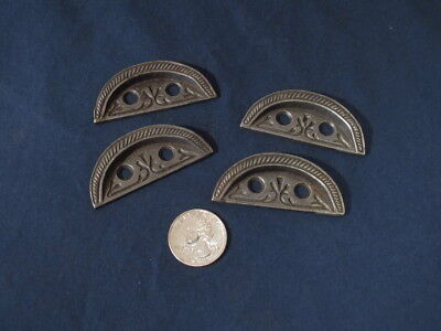 4 Antique Victorian Ornate Window Lock Keepers  Ex. Cond. 1895 Rope edge. Iron