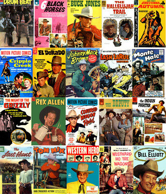 Western Comics Golden Age Cowboys, Outlaws 176 Issues on DVD, Disk 6
