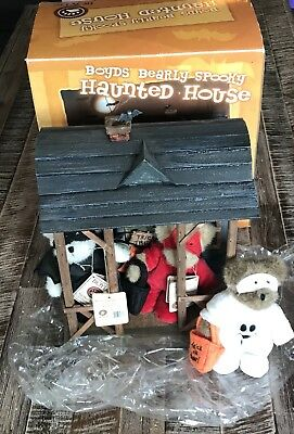 Boyds Bears Bearly Spooky Haunted House #567990 NIB Halloween Plush Rare