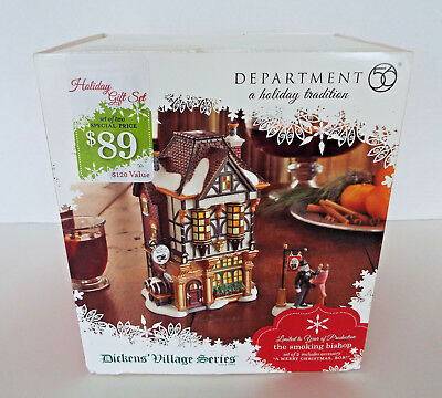 RETIRED DEPARTMENT 56 Dickens Village Smoking Bishop Limited Production To 2011