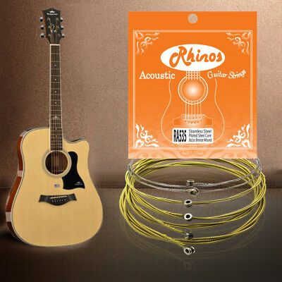 Acoustic Guitar String 1st-E-2nd-B-3rd-G-4th-D-5th-A-6th-E, 80/20 Bronze 11-53