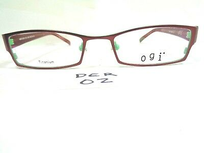 32e09c12e52 New OGI Eyeglasses 5032-1063 Brown Spearmint Green Titanium Rectangular  (DER-02)