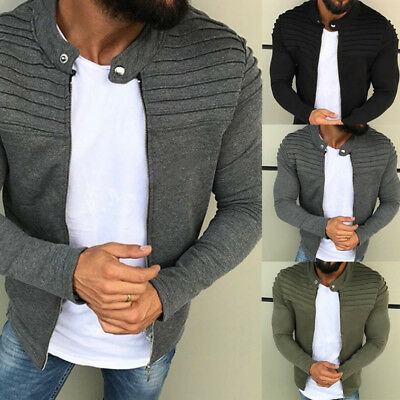 US Men's Winter Slim Casual Warm Hooded Sweatshirt Coat Jacket Outwear Sweater
