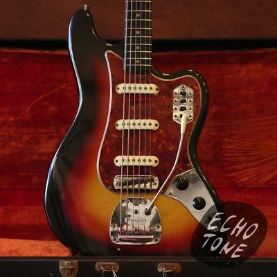 1964 Fender Bass VI (Sunburst, OHSC, 4 Switch Plate)