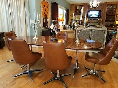6pc Chair and Table Dinette Set Space Age, Atomic Mid-century Modern.
