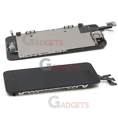 Black iPhone 5s LCD Touch Screen Digitizer with Home Button Camera Replacement