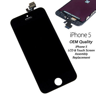 Black For iPhone 5 LCD Assembly Replacement Touch Screen LCD Digitizer OEM