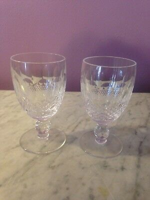 "WATERFORD crystal COLLEEN short stem CLARET WINE Goblet  4-3/4"" Lot of 2  g39"