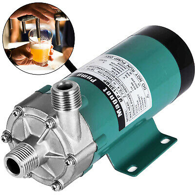 "220V 1/2"" Food Grade Magnetic Drive Pump Stainless Steel Brewery Beer Home Brew"