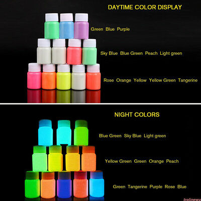 Fluorescent Body Paint Luminous Pigment Glow-in-the-Dark Glow Pigment UK NKA