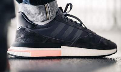 Adidas ZX 500 RM Mens Grey White Black Boost Leather Shoe Trainer Sport UK  6- 217e28eb7