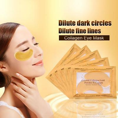 10 Pair 24K GOLD Collagen Crystal Under Eye Mask Anti Aging Wrinkle Dark Circle