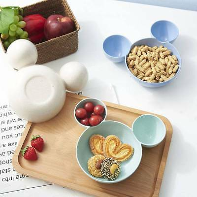 Cute Mouse Shape Feeding Rice Plate Bowl Food Fruit Snack Dish Tableware For Kid