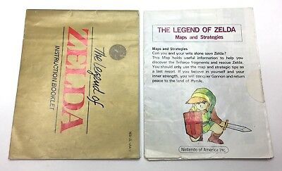 NES The Legend of Zelda Manual + Maps and Strategies Booklet *No Game* #2