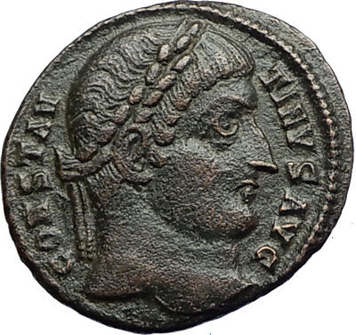 CONSTANTINE I the Great 324AD Authentic Ancient Roman Coin CAMP GATE  i71240
