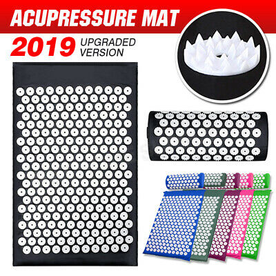 Massage Acupressure Mat Yoga Sit Lying Mats Back/Neck Pain Relief Relaxation