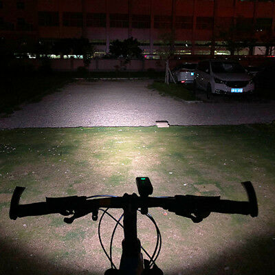 Double LED Rechargeable Bycicle Front Light Bike Lamp Non-Slip Rotating Bracket
