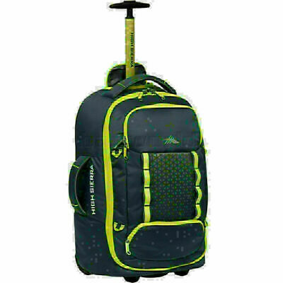 High Sierra Composite V3 Small/Cabin 56cm Wheeled Duffel with Backpack Straps Br