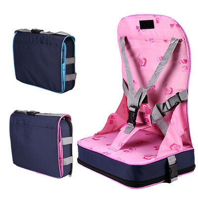 UK Portable Baby Dinning Booster Seat Travel High Chair Light Weight Foldable