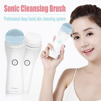 Sonic Electric Skin Cleansing Brush Face Cleaner Facial Cleanser Waterproof GL