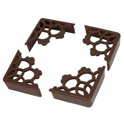 4 Pcs Corner Edge Cushion Desk Table Cover Safety Protection Padded Brown T9I6
