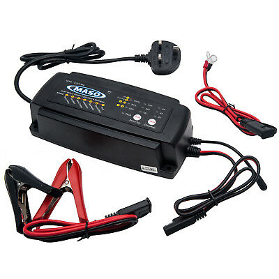 MASO 2/4/8 A Leisure Battery Charger Caravan Campervan Motorhome Marine Boat