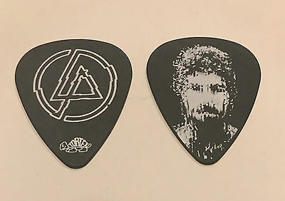 Linkin Park Guitar Pick Brad Delson 2010 A Thousand Suns Tour Black White Photo