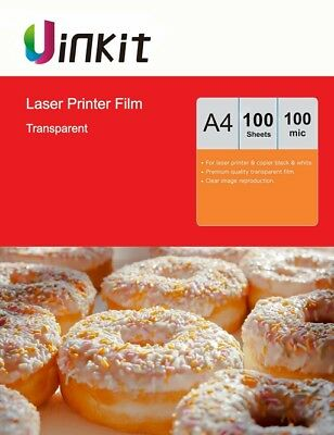 A4 OHP Film Overhead Project Clear Film for Laser Printer - 100Sheets Uinkit