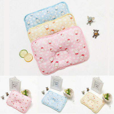 US Baby Cot Pillow Prevent Flat Head Memory Foam Cushion Sleeping Support