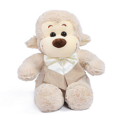 "JOYFAY® Cute 11"" Light Grey Stuffed Monkey Plush Toy Valentine Gift"