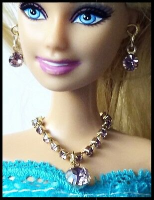 New barbie doll clothes clothing outfit evening wedding jewellery set 3 piece