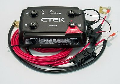 VW T6 CTEK Smart Alternator DC DC Split Charging System 3.5M + Battery Terminals