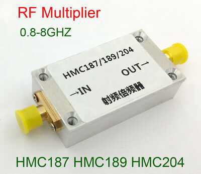 800MHz-8GHz Frequency Doubler RF Multiplier HMC187 HMC189 HMC204 w Aluminum Case