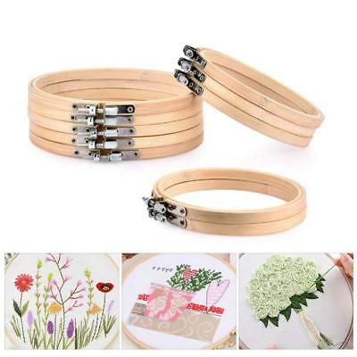 10Pcs Round Wooden Embroidery Hoops Frame Set,5Pcs 4 inch and 5Pcs 6 inch Adj G6