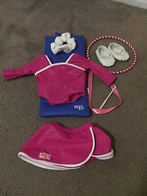 Our Generation Doll Gymnastics Outfit & Accessories - Excellent condition
