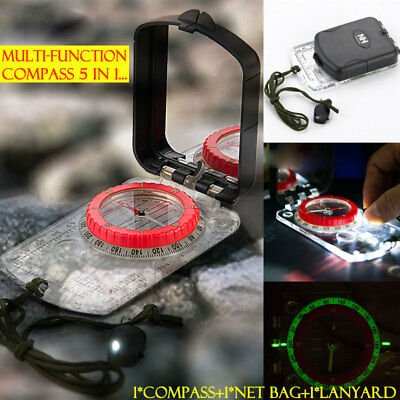 Outdoor Camping Orienteering Scouts Baseplate Compass Ruler Night-Luminous Multi
