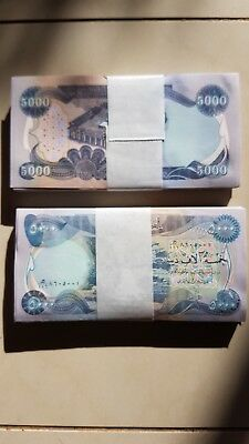 100000 (20 x 5000) MINT NEW IRAQI DINARS 2013 WITH SECURITY FEATURES & CERTIFIED