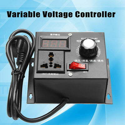 Variable Voltage Controller AC 220V 4000W For Fan Speed Motor Control Dimmer