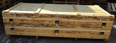 Large Wooden Pallet Packing Crate Box With Lid. Log Store. Norfolk/suffolk Ip24.