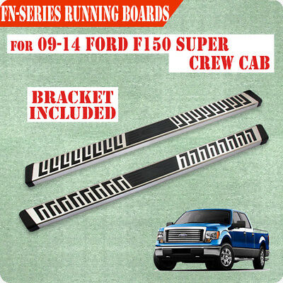 """For 09-14 Ford F150 Super Crew Cab 6"""" Running Board Nerf Bar Side Step S/S FN"""