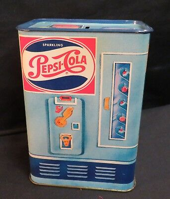 Hallmark Pepsi-Cola Tin Litho Vending Machine Style, Bank