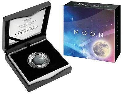 AUSTRALIA 2019 $5 1oz COLOURED PROOF COIN - THE EARTH AND BEYOND SERIES - MOON