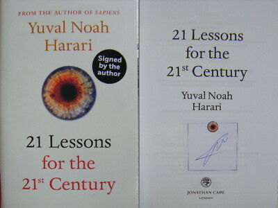 Signed Book 21 Lessons for the 21st Century by Yuval Noah Harari 2018 1st Edn
