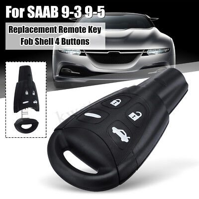 REMOTE KEY FOB Case Shell Repair Kit Replace 4 Buttons For SAAB 93 95 9-3  9-5