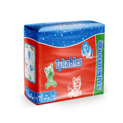Adult Nappy / Tykables Overnights - Size 1 (Medium) - Pack of 10